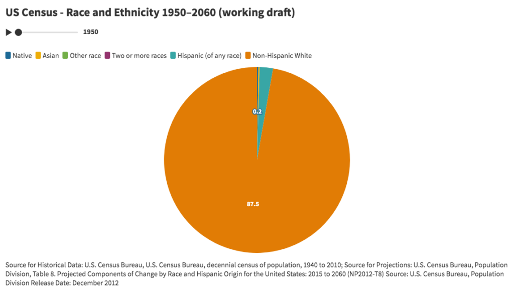 Pie Chart for US Census - Race and Ethnicity (working draft)